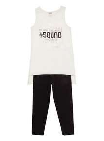 Multicoloured #Squad Vest And Leggings Set (3 - 12 years)