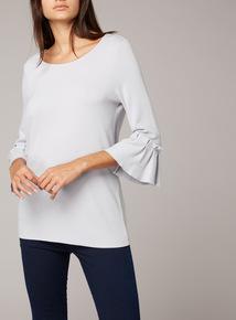 Premium Ruffle Sleeve Jersey Top