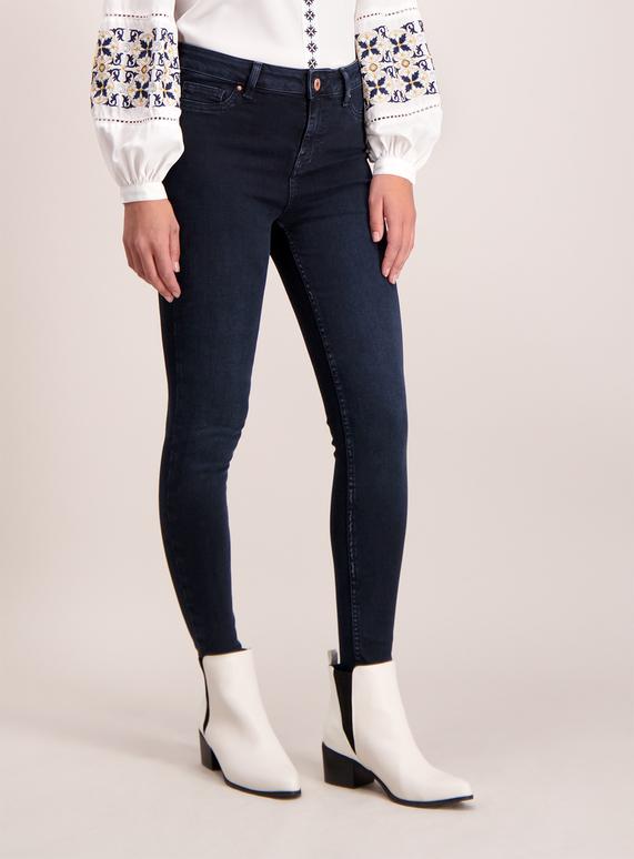 6d16f52a156 Womens Dark Denim Skinny Super Stretch Jeans