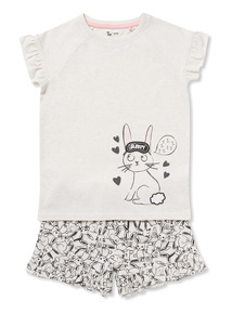 Cream 'Sleepy Bunny' Pyjamas (1-10 years)