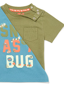 3 Pack Short Sleeve Bug T-Shirts (0-24 months)