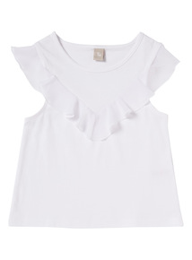 White Frill Vest (3 - 14 years)