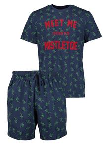 Christmas Mistletoe Short Pyjamas