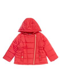 Girls Red Puffa Coat (9 months-5 years)
