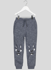 Blue Llama Face Novelty Joggers (9 months-6 years)