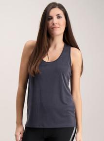 1a37cc716 Active Grey Soft Touch Twist Back Vest Top