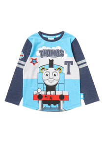 Blue 'Thomas' Print Top (9 months-6 years)