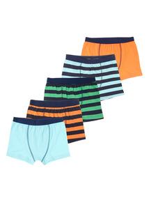5 Pack Bright Stripe Trunks (4-14 years)