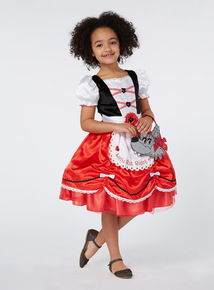 Girls Red Little Red Riding Hood Costume (2-10 years)