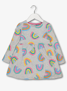 Multicoloured Rainbow Jersey Dress (9 Months - 6 Years)