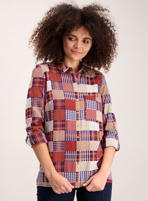 Multicoloured Patchwork Check Shirt