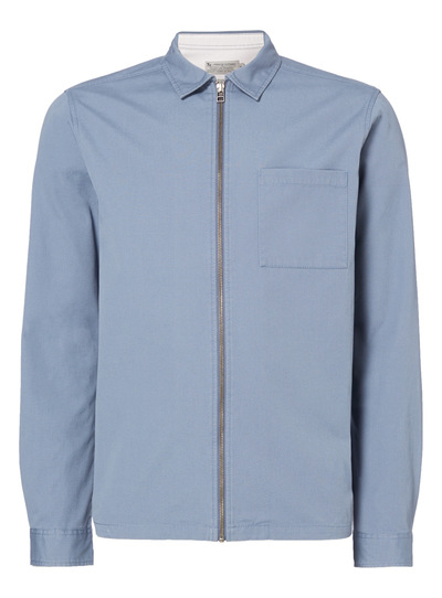 Blue Zip Through Overshirt