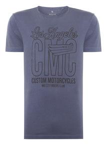 Navy Los Angeles CMC Tee