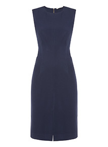 Online Exclusive Navy Sleeveless Knee Length Pencil Dress
