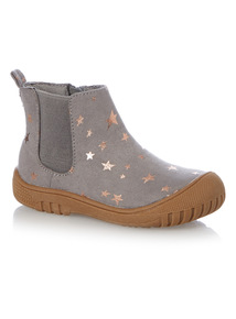 Grey Star Bumper Boots