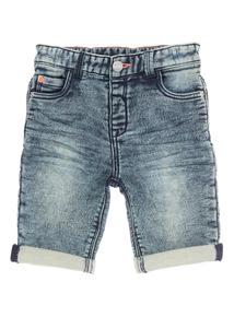 Navy Denim Acid Wash Shorts (9 months - 6 years)