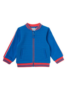 Boys Blue Zip Bomber Jacket (0 - 24 months)