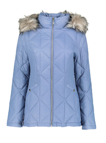 Blue 3 Tog Feather And Down Padded Jacket