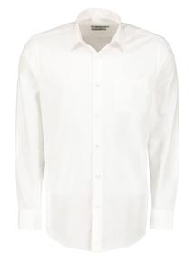 White Cotton Twill Non Iron Long Sleeve Shirt