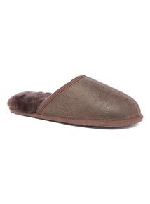 Brown Sheepskin Mule Slipper