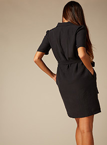 Premium Button Through Shirt Dress