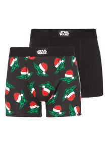 Black 2 Pack Disney Christmas Yoda Trunk