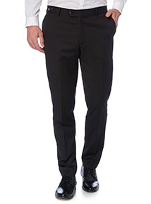 Black Wool Rich Trousers