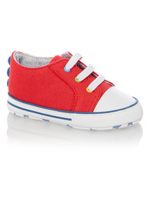 Boys Red High Top Trainer (0 - 18 months)