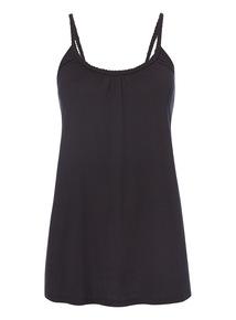 Black Plain Plait Vest