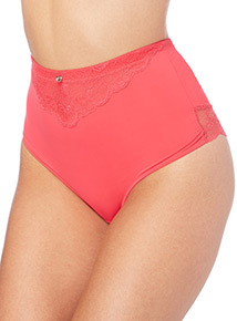 Gok Bright Pink High Waist Brazilian Brief