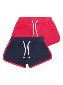 Girls Pink Sweat Shorts 2 Pack (3-12 years)