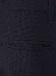 Boys Navy Woven Generous Fit Trousers 2 Pack (3 - 12 years)
