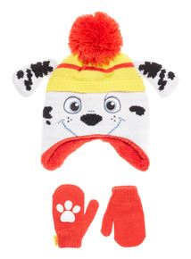 Red Paw Patrol Hat and Mittens Set (1-6 years)