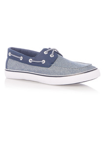Chambray Boat Shoes