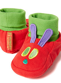 Green 'The Very Hungry Caterpillar' Booties (0-18 months)