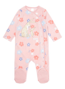 Pink Guess How Much I Love You Sleepsuit (0-24 months)