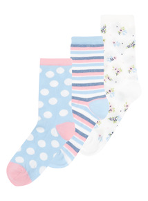 Multicoloured Patterned Socks 3 Pack