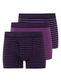 Purple Striped Trunks 3 Pack