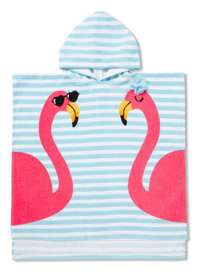Blue Flamingo Poncho (One Size)