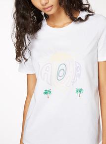 'Aloha' Embroidered T-Shirt