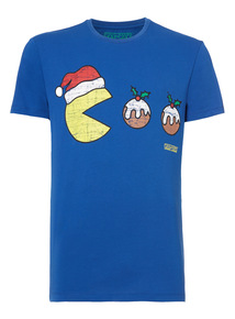 Black Christmas Pac Man Tee