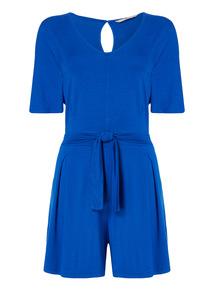 Blue Tie Waist Playsuit