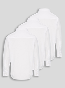 White Long-Sleeved Shirts 3 Pack (3 - 16 years)