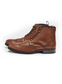 Sole Comfort Tan Brogue Boots