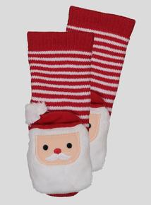 Christmas Santa Rattle Socks (1 - 24  Months)