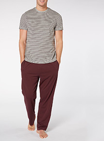 Red Short Sleeve Tee And Trousers Set