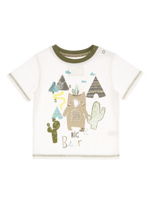 Cream Bear Printed Tee (0 - 24 months)