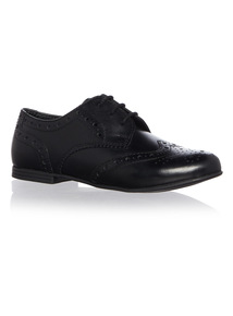 Girls Lace-Up Leather Brogues