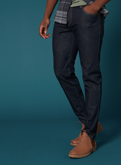 Premium Dark Denim Tapered Jean With 360 Degree Stretch