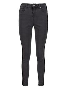 Black Glitter Side Stripe Skinny Jeans